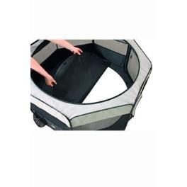 Box sklad. nylon šteňatá 92x92x43cm grey / black KAR 1ks