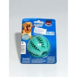 Dentafun Hračka pes Lopta Baseball s mätou 65mm TR