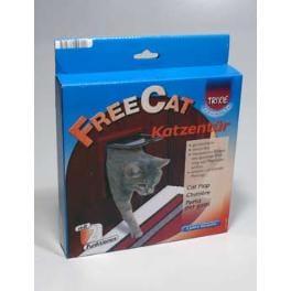 Dvierka mačka plast Hnedé 2P Freecat Classic Trixie 1ks