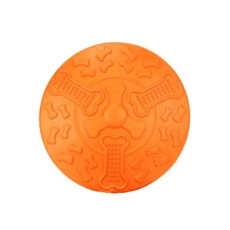 Hračka pes Létající talíř KIDDOG 19cm oranžová 1ks