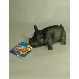Hračka pes Prasa domáci pískací latex 17cm TR