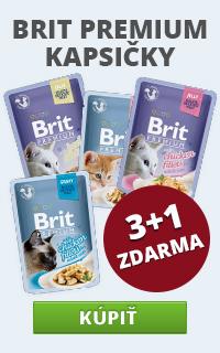 Brit Premium kapsičky 3 + 1 zdarma
